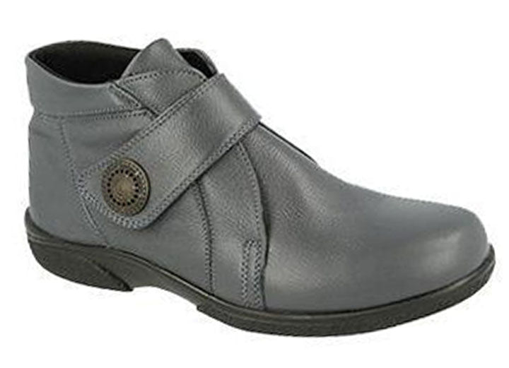 Womens Wide Fit DB Doris Boots - Grey