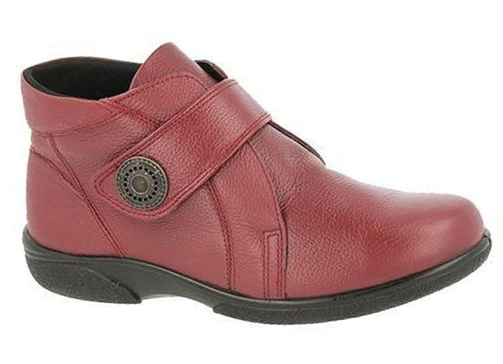 Womens Wide Fit DB Doris Red Boots