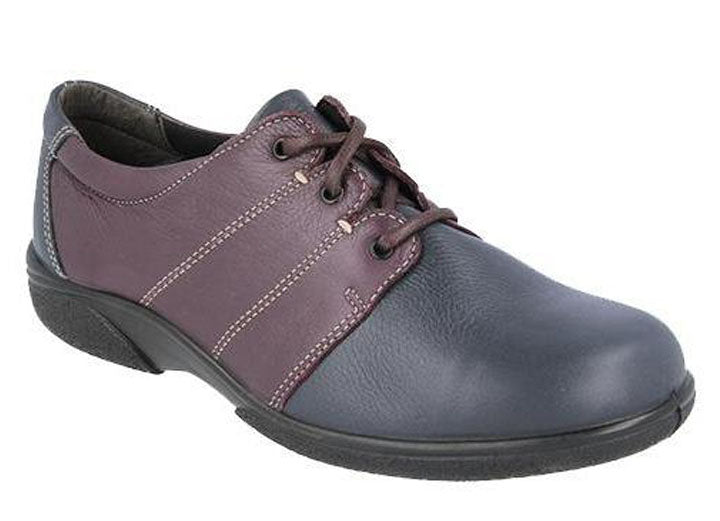Womens Wide Fit DB Glossop Shoes - Navy