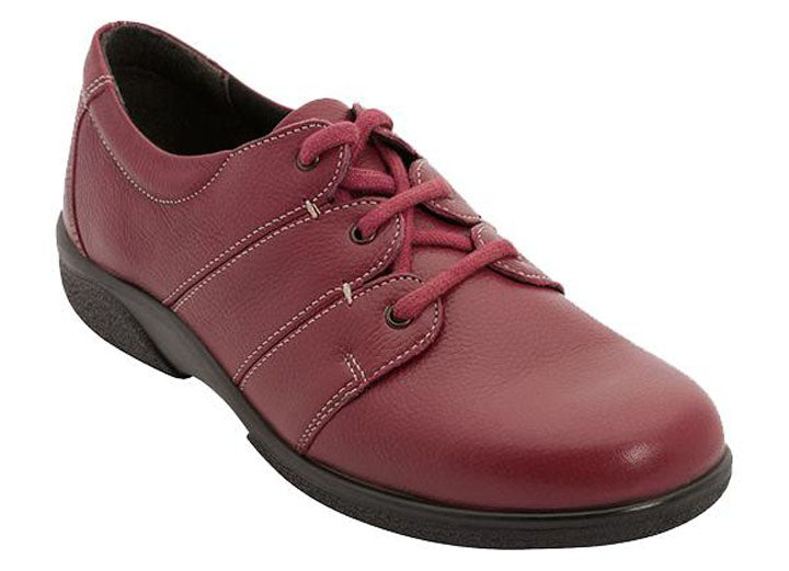 Womens Wide Fit DB Glossop Shoes - Red