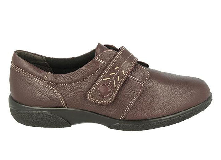 Womens Wide Fit DB Healey Shoes - Chocolate