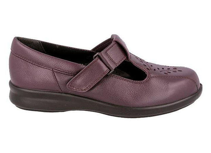 Womens Wide Fit DB Kinross Shoes - Wineberry