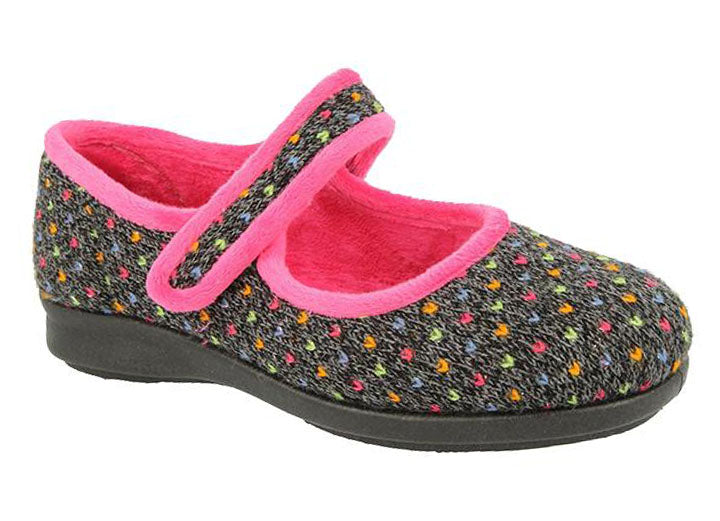 Womens Wide Fit DB Pitsford Slippers