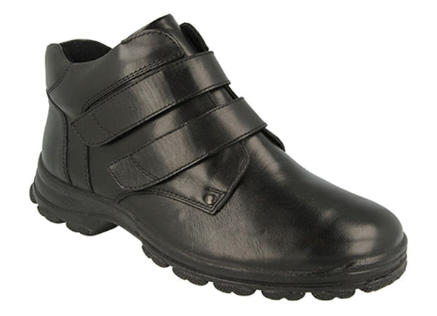 Mens Wide Leather Waterproof Walking Boots