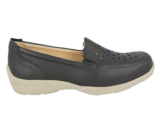 Women's Wide DB Elsie Leather Loafers|collection_image