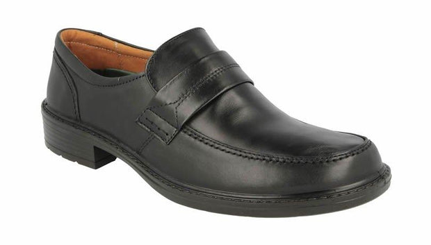 Wide Fit DB Leather Slip On Loafers