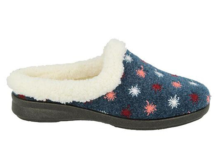 Womens Wide Fit DB Tracey Slippers