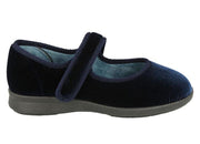 Womens Wide Fit DB Whitby Slippers