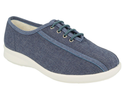 Womens Wide Fit DB Senna Canvas Shoes