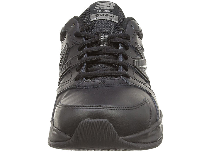Mens Wide Fit New Balance MX624AB3 Black Trainers