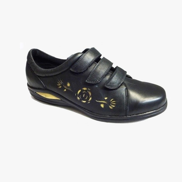 Women's Wide Fit  NatureForm Soft Wide Triple Velcro Fitting Shoes|collection_image