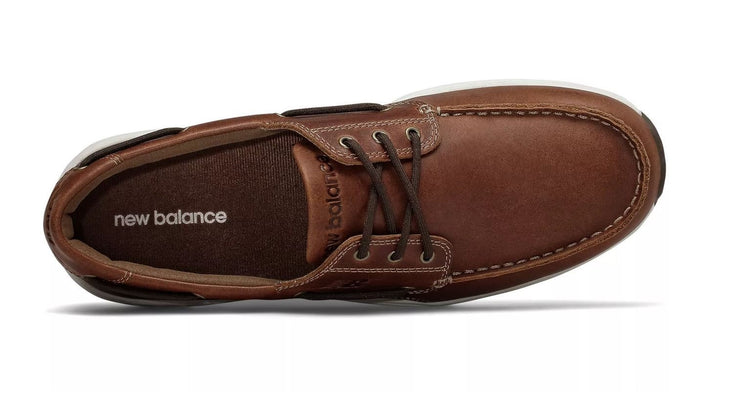 Mens Wide New Balance MD1200SB Brown Boat Shoes