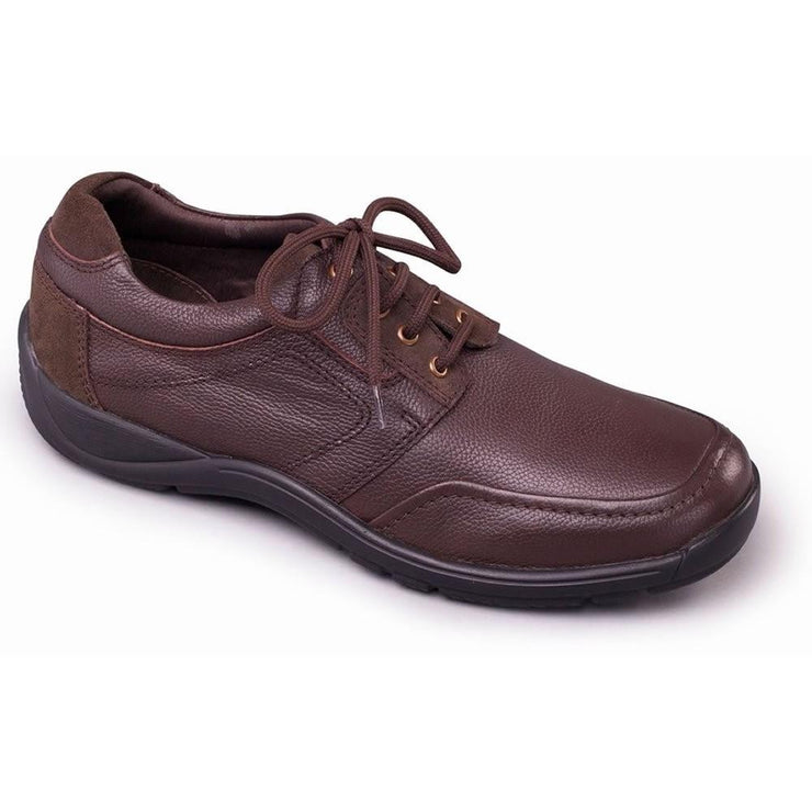 Mens Wide Soft Leather Lace Up Shoes