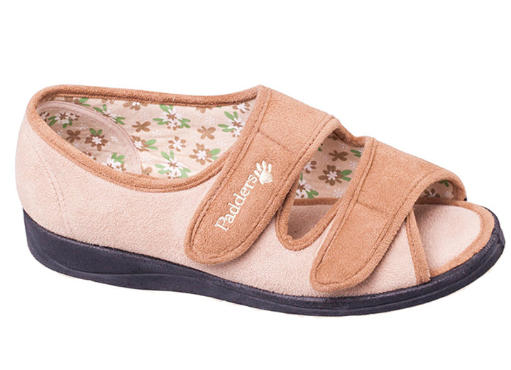 Womens Wide Fit Padders Lydia Slippers