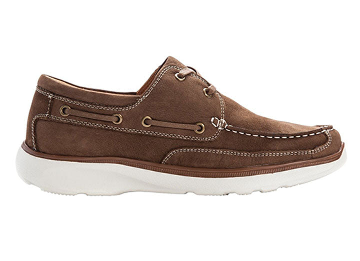 Mens Wide Propet Orman Camel Boat Shoes