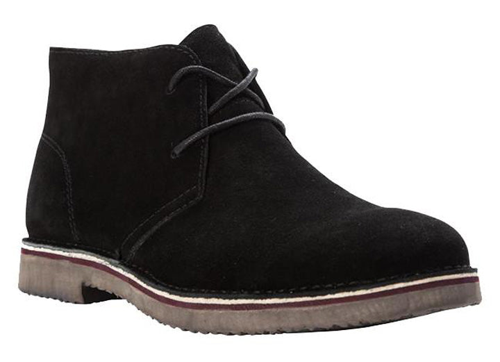 Mens Wide Fit Propet MCX012SBLK Findley Desert Boots
