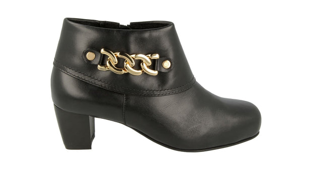 Womens Wide DB Rye Black and Gold Leather Boots|collection_image
