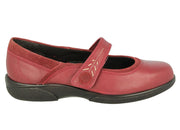Womens Wide Fit DB Buxton Shoes - Red