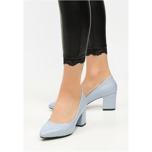 Couture Di Pari Baby Blue Heeled Shoes - Couture Di Pari