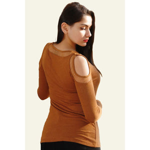 Vavin NAKED SHOULDER BLOUSE - Brown - Couture Di Pari
