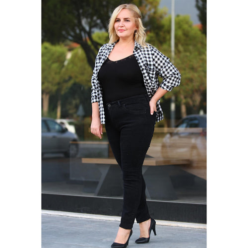 Women's Plus Size Black Jeans