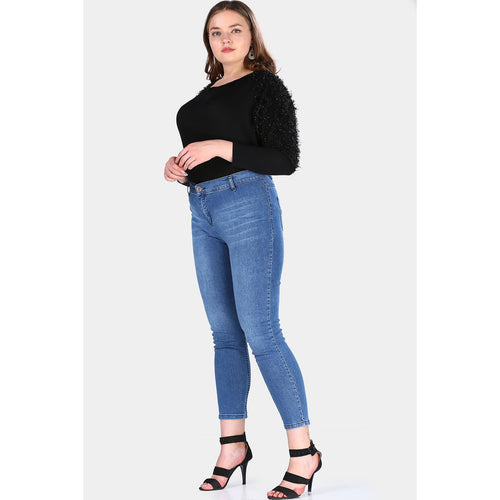 Plus Size Blue Jeans