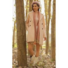 Load image into Gallery viewer, Rose Button Down Lined Casual Coat - Couture Di Pari