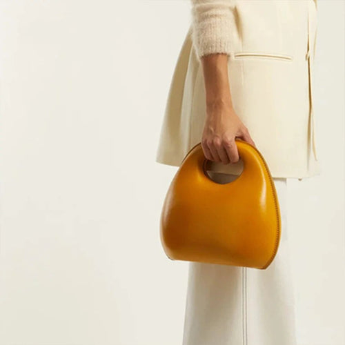 Designer Shell Type Circular Shoulder Tote Bag - Couture Di Pari