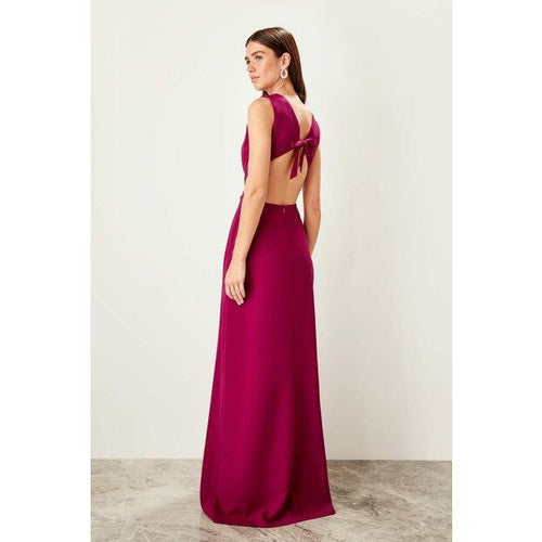 Sleeveless Open Back Maxi Evening Dress - Couture Di Pari