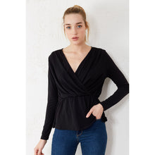 Load image into Gallery viewer, Couture Di Pari Wrap Elastic Waist Blouse - Couture Di Pari