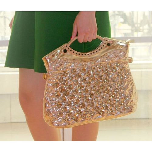 Rhinestone Diamond Design Large Capacity Evening Bag - Couture Di Pari