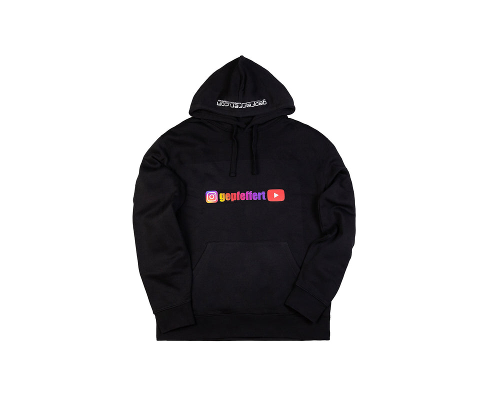 "gepfeffert.com® Hoodie - ""Insta. gepfeffert YouTube"" - gepfeffert.com"