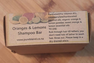 Pure Blend Shampoo Bar 100g- Orange and Lemons