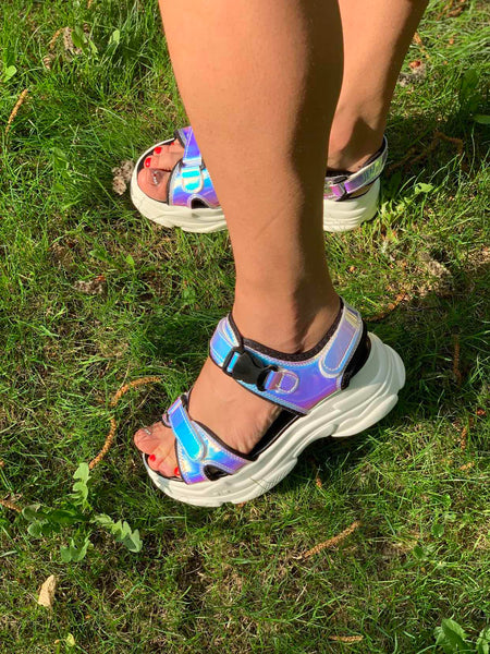 Summer Hollo Sandals - BLUE, PINK