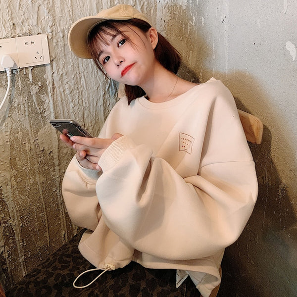 Ulzzang Long Sleeved Sweatshirt BROWN/GREY