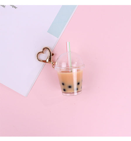 Cute Bubble Tea Coffee Keychains