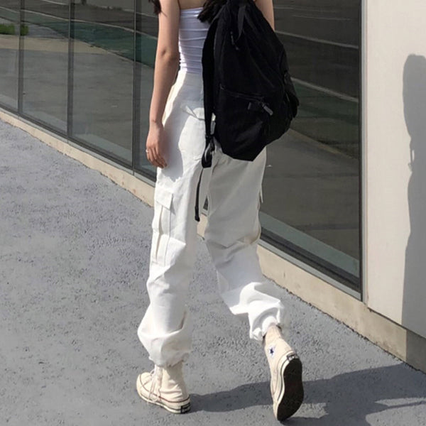 Summer Black and White Cargo Pants
