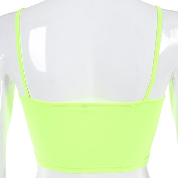 Neon Green and Pink Top