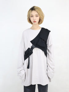 Rock One Shoulder Buckle Vest