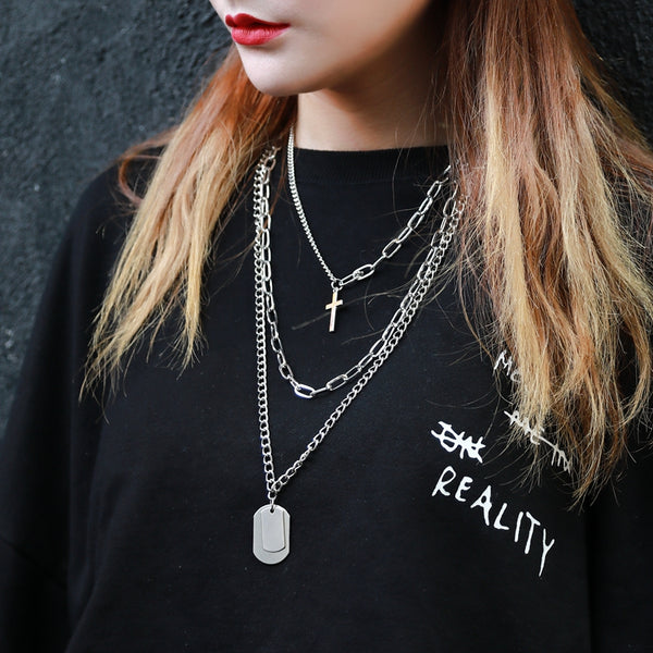 Multi-Layer Long Chain Necklace