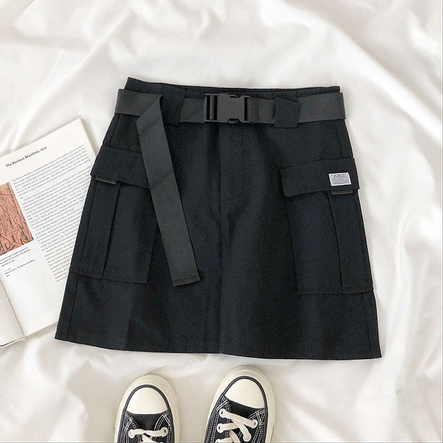 Summer Cargo Skirt High Waist With Pocket