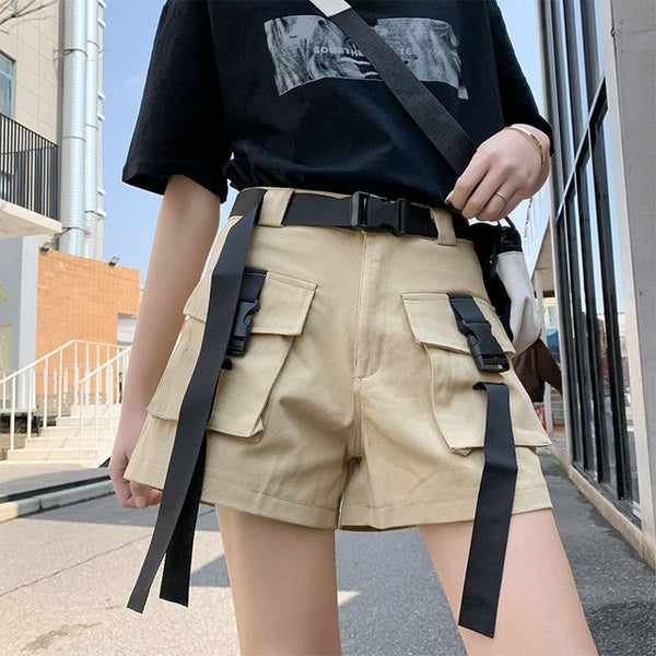 Short Shorts With Buckle Belts