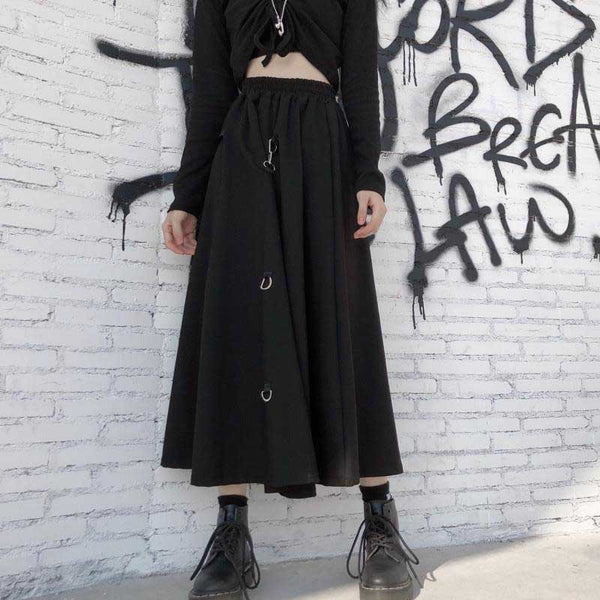 High Waist Harajuku Midi Long Skirts