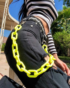 Candy Color Belt Chains - GREEN, YELLOW, PINK, WHITE