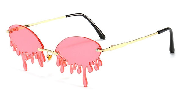 Fashion Melting Style Sunglasses - PINK, PURPLE, GREEN, BLUE, BLACK
