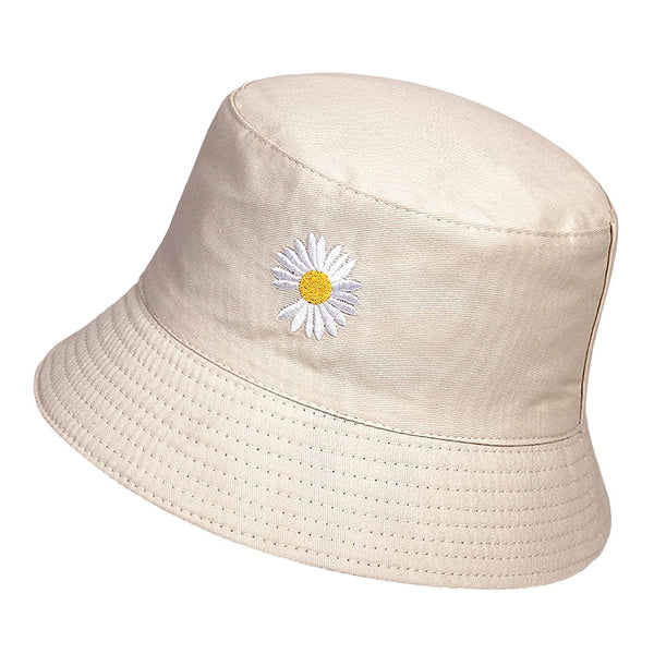 Daisy Bucket Hat - PINK, WHITE, BLACK