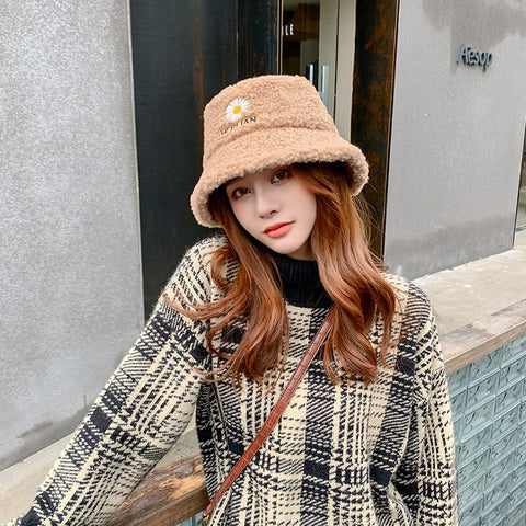 Autumn Winter Style Bucket Hats - Black, Beige, Pink, Yellow, Brown Orange
