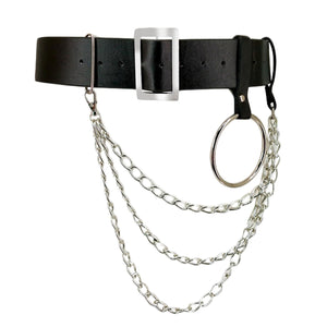 3 Chain Leather Belt Style 2