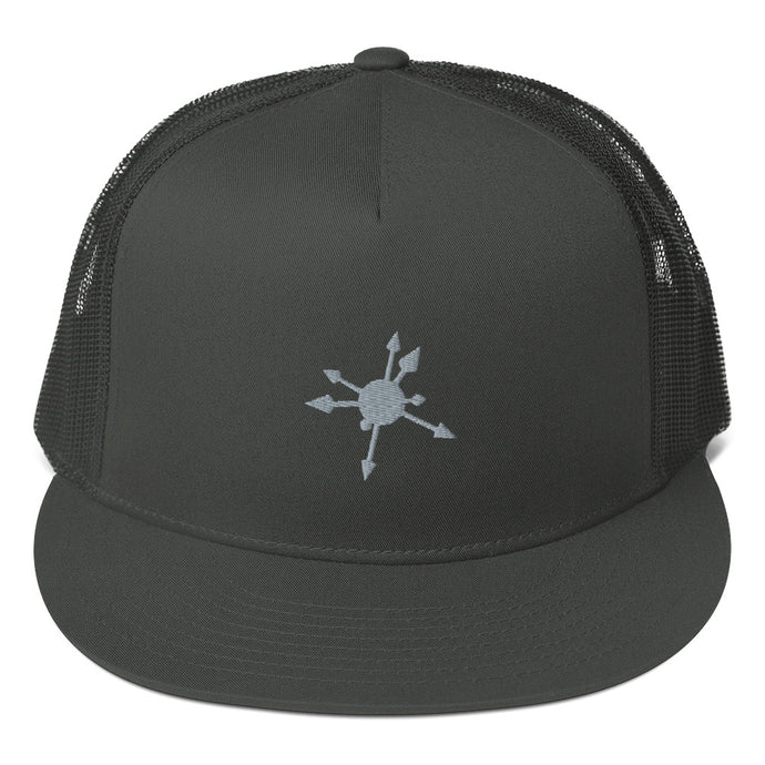 Black and grey Chaosphere trucker cap