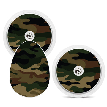 Bubble Smart Reader Sticker Decal: Camouflage Print